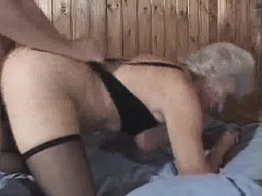 Granny Loves Cum And Doggy...