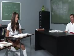 teacher plays with her...